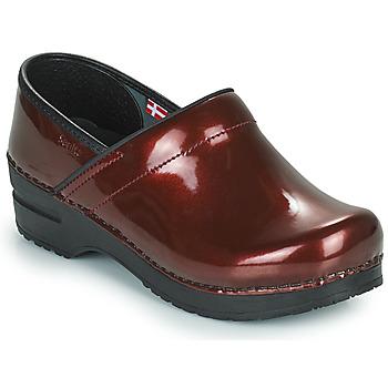 Topánky Ženy Nazuvky Sanita PROF Bordová