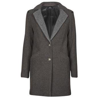 Oblečenie Ženy Kabáty One Step FT44061 Kaki / Šedá