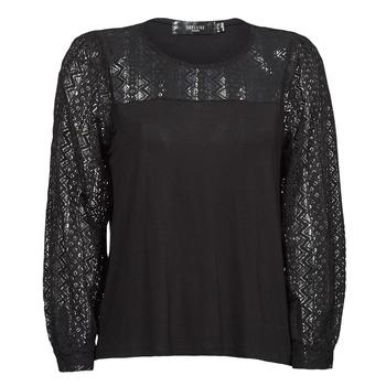 Oblečenie Ženy Tričká s dlhým rukávom Deeluxe FRIDA Čierna