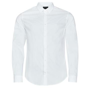 Oblečenie Muži Košele s dlhým rukávom Emporio Armani 8N1C09 Biela