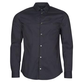 Oblečenie Muži Košele s dlhým rukávom Emporio Armani 8N1C09 Námornícka modrá