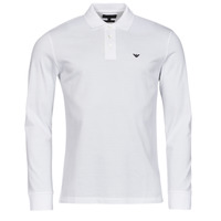 Oblečenie Muži Polokošele s dlhým rukávom Emporio Armani 8N1FQ0 Biela