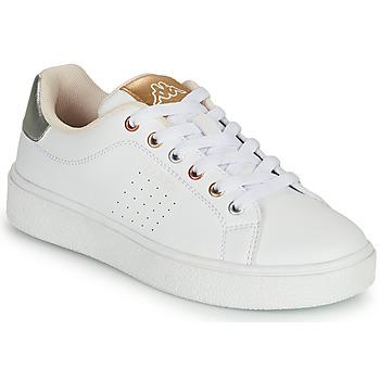 Topánky Dievčatá Nízke tenisky Kappa SAN REMO Biela / Zlatá / Strieborná