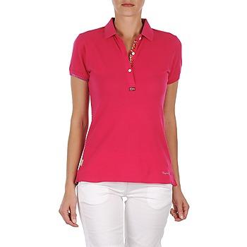 Oblečenie Ženy Polokošele s krátkym rukávom Napapijri ELINDA Ružová