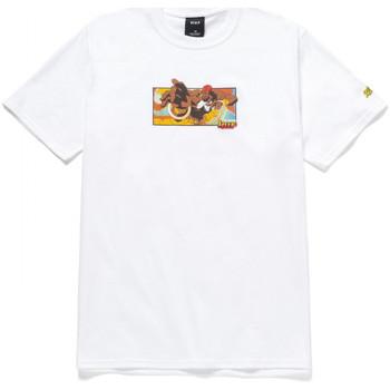 Oblečenie Muži Tričká s krátkym rukávom Huf T-shirt dhalsim ss Biela