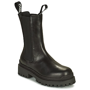 Topánky Ženy Polokozačky Karl Lagerfeld BIKER II LONG GORE BOOT Čierna