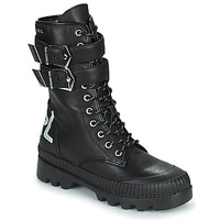Topánky Ženy Polokozačky Karl Lagerfeld TREKKA II HI CUFF BUCKLE BOOT Čierna