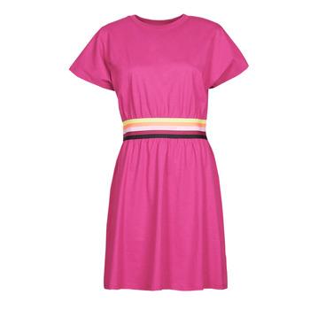 Oblečenie Ženy Krátke šaty Karl Lagerfeld LOGO TAPE JERSEY DRESS Ružová