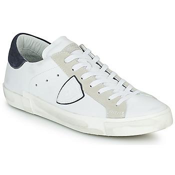 Topánky Muži Nízke tenisky Philippe Model PRSX LOW MAN Biela