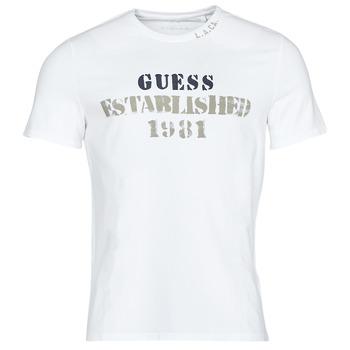 Oblečenie Muži Tričká s krátkym rukávom Guess WORKFOR CN SS TEE Biela