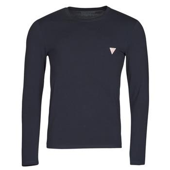 Oblečenie Muži Tričká s dlhým rukávom Guess CN LS CORE TEE Námornícka modrá
