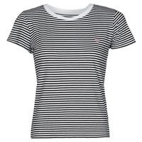 Oblečenie Ženy Tričká s krátkym rukávom Guess ES SS GUESS LOGO BABY TEE Čierna / Biela