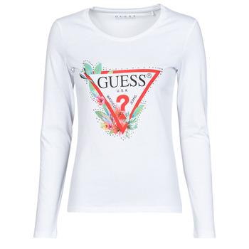 Oblečenie Ženy Tričká s dlhým rukávom Guess LS CN NELLI TEE Biela