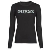 Oblečenie Ženy Svetre Guess ELVIRE RN LS SWTR Čierna