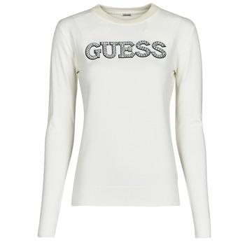 Oblečenie Ženy Svetre Guess ELVIRE RN LS SWTR Béžová
