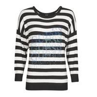 Oblečenie Ženy Svetre Guess CLAUDINE BAT SLEEVE SWTR Čierna / Biela