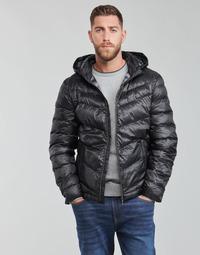 Oblečenie Muži Vyteplené bundy Guess SUPER LIGHT PUFFA JKT Čierna