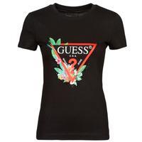 Oblečenie Ženy Tričká s krátkym rukávom Guess SS CN NORA TEE Čierna