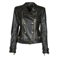 Oblečenie Ženy Kožené bundy a syntetické bundy Guess OLIVIA MOTO JACKEY Čierna