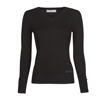 Oblečenie Ženy Svetre Guess GENA VN LS SWTR Čierna