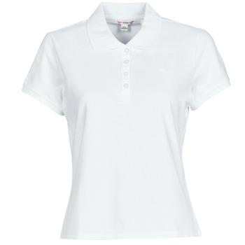 Oblečenie Ženy Polokošele s krátkym rukávom Guess ES SS GUESS LOGO PIQUE POLO Biela