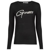 Oblečenie Ženy Svetre Guess ADA RN LS SWTR Čierna