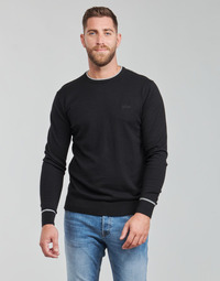 Oblečenie Muži Svetre Guess KEVIN LS CN SLIM FIT SWTR Čierna