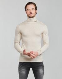 Oblečenie Muži Svetre Guess LANE BASIC TURTLE NECK Biela
