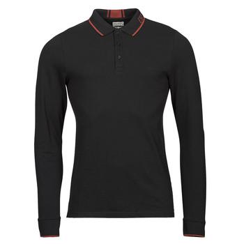 Oblečenie Muži Polokošele s dlhým rukávom Guess STU LS POLO Čierna