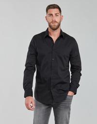 Oblečenie Muži Košele s dlhým rukávom Guess LS SUNSET SHIRT Čierna
