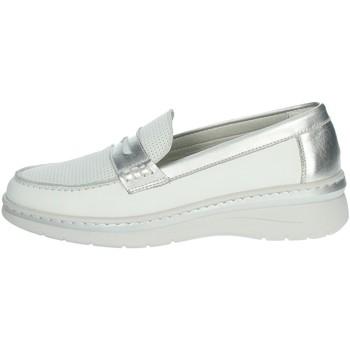 Topánky Ženy Mokasíny Notton 3200 White/Silver