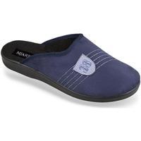 Topánky Muži Papuče Mjartan Pánske modré papuče  FILIP tmavomodrá