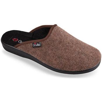 Topánky Ženy Papuče Mjartan Pánske papuče  NERO hnedá