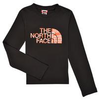 Oblečenie Chlapci Tričká s dlhým rukávom The North Face EASY TEE LS Čierna
