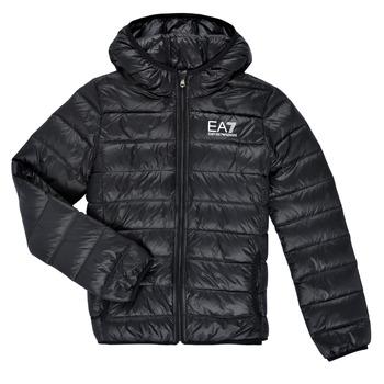Oblečenie Chlapci Vyteplené bundy Emporio Armani EA7 ANISTA Čierna