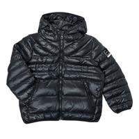 Oblečenie Chlapci Vyteplené bundy Emporio Armani EA7 FHALIA Čierna
