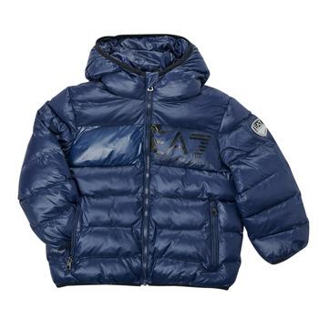 Oblečenie Chlapci Vyteplené bundy Emporio Armani EA7 TREDA Námornícka modrá