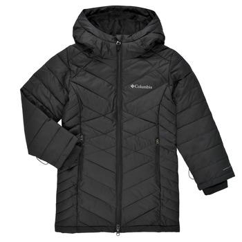 Oblečenie Dievčatá Vyteplené bundy Columbia HEAVENLY LONG JACKET Čierna