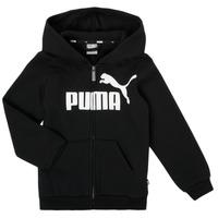 Oblečenie Chlapci Mikiny Puma ESSENTIAL BIG LOGO FZ HOODIE Čierna