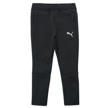 Oblečenie Chlapci Tepláky a vrchné oblečenie Puma EVOSTRIPE PANT Čierna
