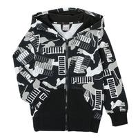 Oblečenie Chlapci Mikiny Puma ALPHA AOP FZ Čierna