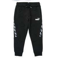 Oblečenie Chlapci Tepláky a vrchné oblečenie Puma PUMA POWER TAPE PANT Čierna