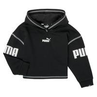 Oblečenie Dievčatá Mikiny Puma PUMA POWER HOODIE Čierna