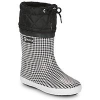 Topánky Dievčatá Snehule  Aigle GIBOULEE PRINT Čierna / Biela