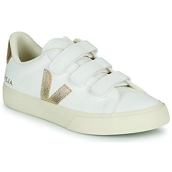 Topánky Ženy Nízke tenisky Veja RECIFE LOGO Biela / Zlatá