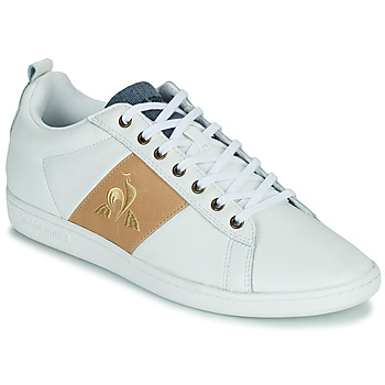 Topánky Muži Nízke tenisky Le Coq Sportif COURTCLASSIC Biela / Svetlá hnedá