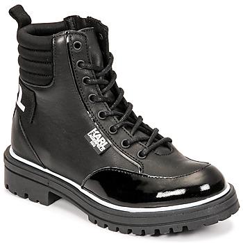 Topánky Dievčatá Čižmy do mesta Karl Lagerfeld HOLISTA Čierna