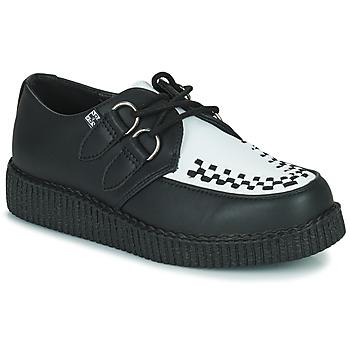 Topánky Derbie TUK VIVA LOW TOE CREEPER Čierna / Biela