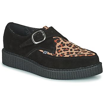 Topánky Derbie TUK POINTED CREEPER MONK BUCKLE Čierna / Leopard