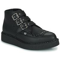Topánky Polokozačky TUK POINTED CREEPER 3 BUCKLE BOOT Čierna